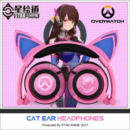 Overwatch cat ear headphone
