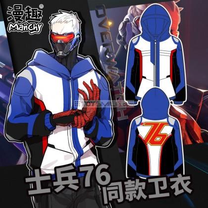 เสื้อฮู้ดดี้ Soldier:76 cosplay - Overwatch