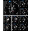 เสื้อกันหนาวมีฮู้ด Assassin's Creed สีดำ (มี 9 แบบ) ฟรีหน้ากากเรืองแสง