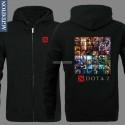 เสื้อฮู้ดดี้ DOTA 2 (แบบซิป) Black