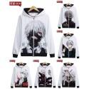 เสื้อกันหนาวฮู้ด Tokyo ghoul (แบบซิป) (มี19แบบ)