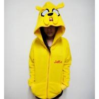 เสื้อกันหนาวมีฮู้ด Jake จาก Adventure Time