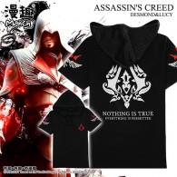 เสื้อยืดมีฮู้ด Assassin's Creed (ดำ)