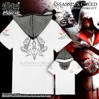 เสื้อยืดมีฮู้ด Assassin's Creed (ขาว)