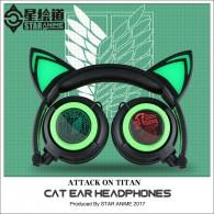 Attack on Titan cat ear headphone