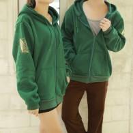 เสื้อกันหนาวมีฮู้ด ผ่าพิภพไททัน (เขียว) แบบที่2