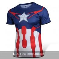 เสื้อ Captain America  (แบบที่ 2) แขนสั้น