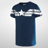 เสื้อยืด Captain America แบบที่ 4 (น้ำเงิน)