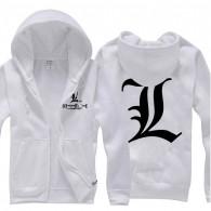 เสื้อกันหนาวมีฮู้ด Death Note (ขาว)