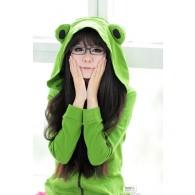 เสื้อกันหนาวมีฮู้ด Frog (เขียว)