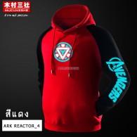 เสื้อฮู้ดดี้ Iron Man (สีแดงแขนดำ/ลายเรืองแสง)(ARK4)