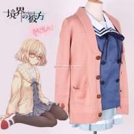 Set ชุดนักเรียน+เสื้อคลุมชมพู แบบ Kuriyama Mirai