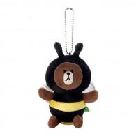 พวงกุญแจ ตุ๊กตา Line Brown(ชุดผึ้ง)