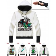 เสื้อกันหนาวฮู้ด Minecraft  (แบบสวมมือ) (มี13 แบบ)