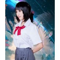 Cosplay ชุดนักเรียน Mitsuha
