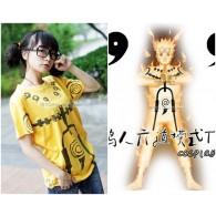 เสื้อยืด นารูโตะ โหมด9 หาง เหลือง