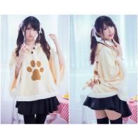 ผ้าคลุมไหล่ มีฮู้ด Neko Atsume (Yellow)