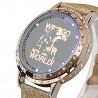 นาฬิกา ลูฟี่ ชอปเปอร์ วันพีช Touch screen LED watch - Gold