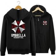 เสื้อกันหนาวมีฮู้ด Resident Evil (ดำ)