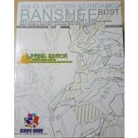 RX-0 Unicorn Gundam 02 Banshee Bust Desktop Model 1/35