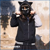 เสื้อฮู้ดดี้แมวเหมียว The Winter Soldier + Captain America