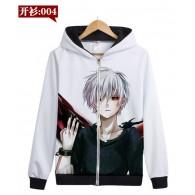 เสื้อกันหนาวฮู้ด Tokyo ghoul NO.04 (แบบซิป)