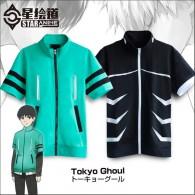 เสื้อมีซิปแขนสั้น  Tokyo ghoul