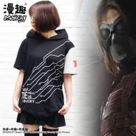 เสื้อยืดมีฮู้ด Winter Soldier