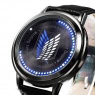 นาฬิกา Attack on Titan Touch screen LED watch ลายปีกหน่วยสำรวจ (น้ำเงิน)